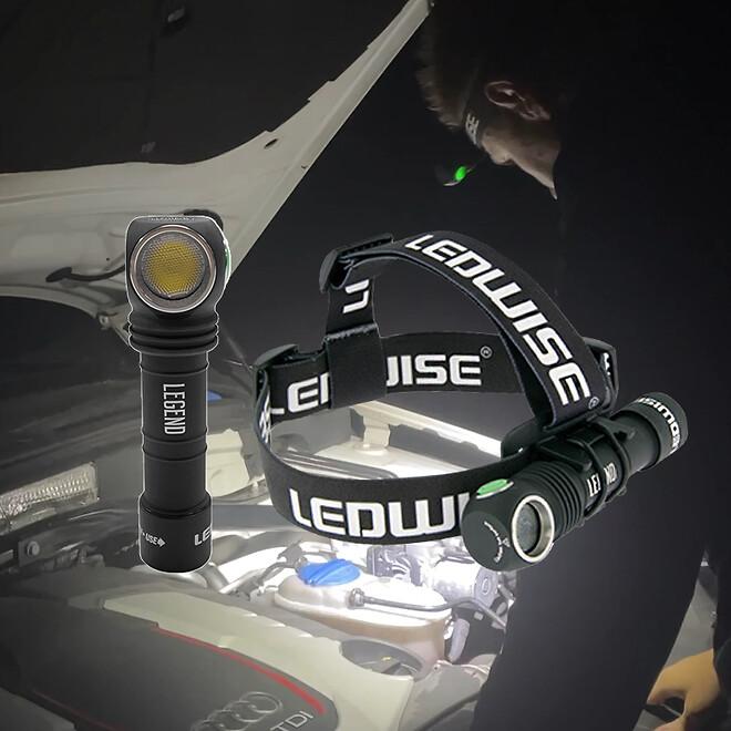 Kraftig LED pandelygte og arbejdslampe