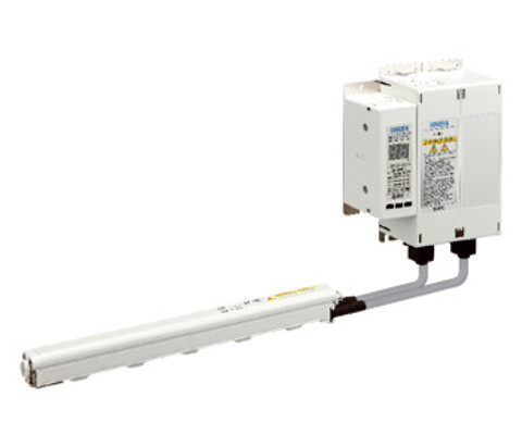 SMC's ioniseringsenhed af stavtypen IZT neutraliserer statisk elektricitet lige hvor du vil