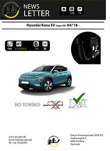 Hyundai Kona EV dragkrok för cyklar T60 system från GDW