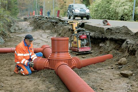 Rense- og inspektionsbrønde til spildevand - Uponor brønde, inspektionsbrønde, Accesso brønde