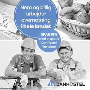 Arbejdsovernatning på Danhostel - Gratis Firmakort\n