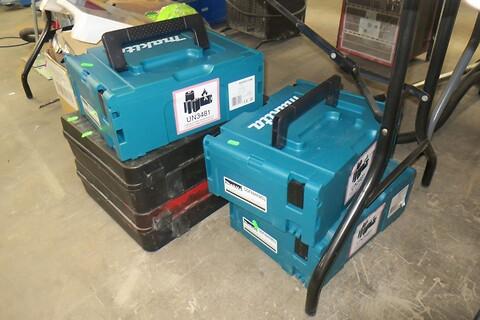 5 stk. værktøjskasser makita