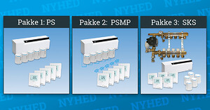 Pettinaroli har samlet det intelligente gulvvarmesystem COMFORT IP i 3 gulvvarmepakker. Så får du alle komponenter samlet i én pakke fra 2 til 9 kredse på ét VVS-nummer
