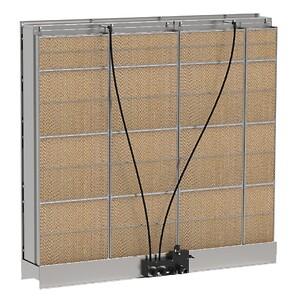 Condair MC finns tillgänglig i storlekar från 600 mm till 3 000 mm i bredd och från 750 mm till 3 000 mm i höjd. Upp till tre kontrollsteg tillgängliga, beroende på enhetsstorlek.