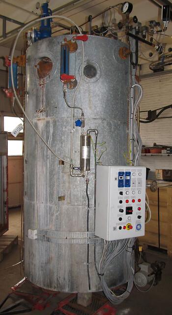 Dampkedel i container 1200 kg/h x 16 bar - Udlejes af Chr. Møller A/S