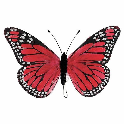 Sommerfugl, 30cm, Lyserød