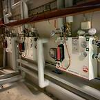 præfabrikerede blandesløjfer, ladesystem til brugsvand, lufttæpper, gulvvarme, varmeveksler, Neotherm, specialfremstillede strålevarmepaneler samt diverse ventiler