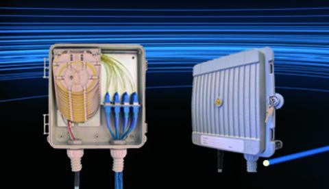 IP55 termineringsboks til 12 eller 24 fibre