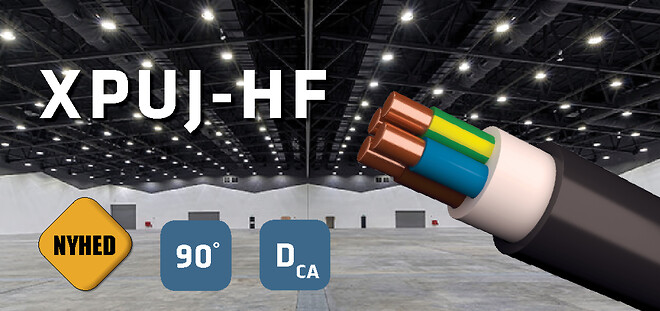 XPJ-HF helt sort installationskabel