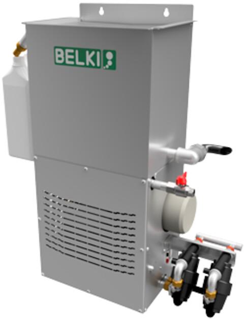 BELKI 321 - BELKI olieseparator type 321 til separation af lækolier fra kølesmørevæsker, affedter- og vaskevæsker fra større vaske- og bearbejdningsmaskiner. Kapacitet på op til 150 l/h og med mulighed for tilslutning af 2 vippesug.