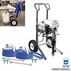 Sanispray hp 130 2 gun cart sprayer sanitizer