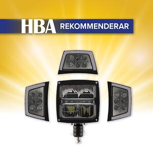 Färdstrålkastare med värmelins har halvljus, helljus, positionsljus och blinkers.