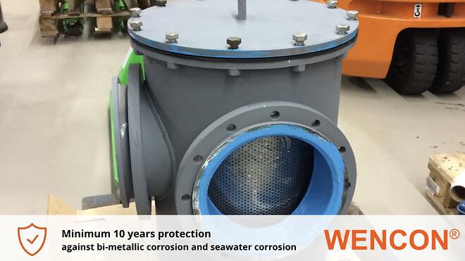 Bi-metallisk korrosions beskyttelse