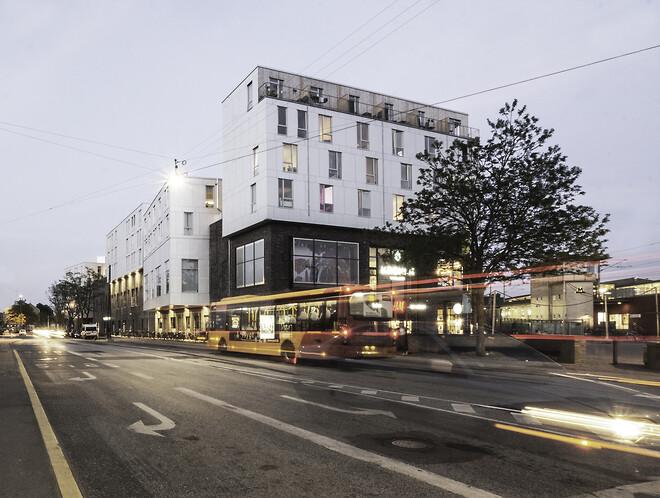 Tagkronen er 158 lette boliger ovenpå et shoppingcenteret Kronen i Vanløse.