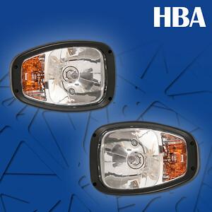 Huvudstrålkaster med blinkers och parkeringsljus