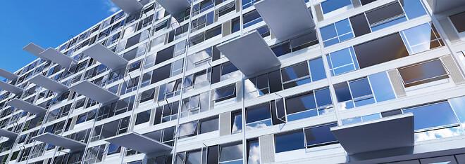 Idealcombi Futura+ udadgående og indadgående vinduer i facade