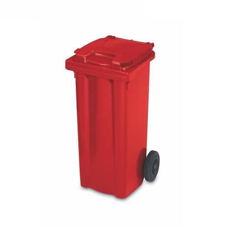 Affaldscontainer 2-hjulede 80 l - rød