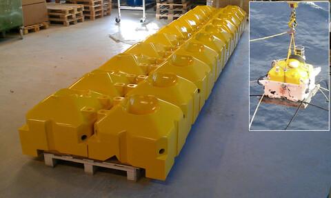 Buoyancy/ oppdriftselementer    - Exact Production as - buoyancy, oppdrift, oppdriftselementer, maskinering, fresing, plast, kompositt, pom