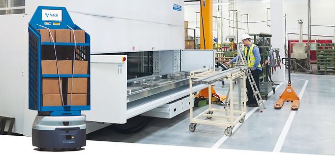 Hans Schourup Modula lagerautomat Fetch intern logistik robot