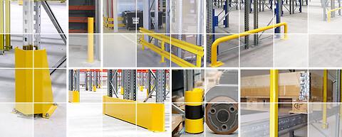 Sikkerhedstilbehør der bidrager til øget tryghed på lageret - Sikkerhedstilbehør til lagerreol