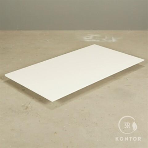 Montana bordplade. hvid med lige ender. 139x80