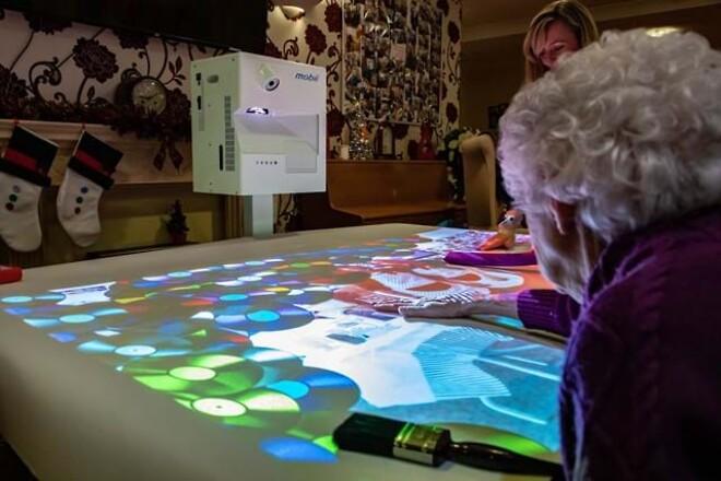 Interaktivt bord, Interaktivt gulv, Interaktivt projektor, Kognitiv træning demente
