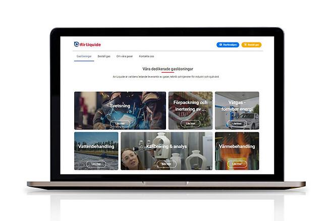 Air Liquide har ny hemsida, hitta rätt gas för din bransch