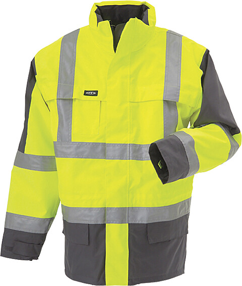 Parka, 3 i 1 jakke, en iso 20471, kl. 3, gul/grå - 11132