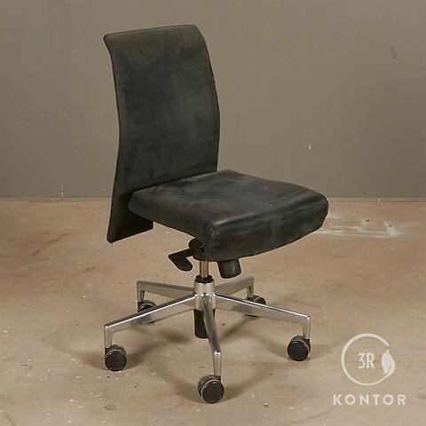 Kusch+co kontorstol i gråt velour stof.