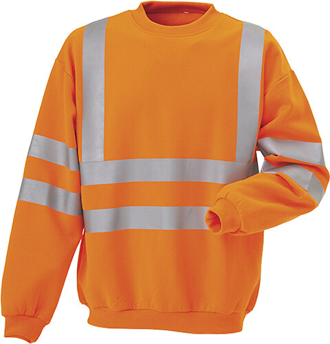 Sweatshirt en iso 20471 kl. 3, orange - 11115