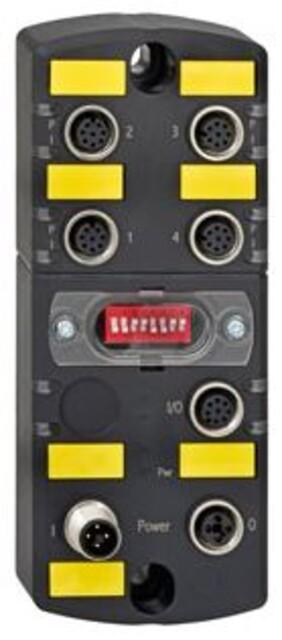 Samleboks til 4 enheder for både parallelkobling samt for seriel (SD)