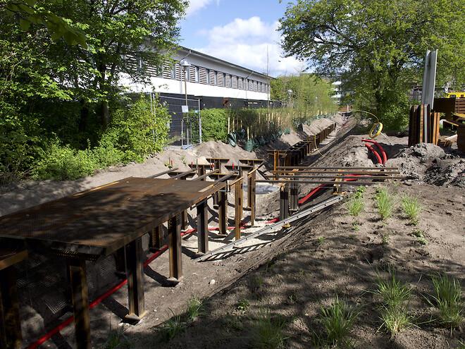 Remiseparken fornys med 400 m stålgangbro på Krinner skruefundamenter