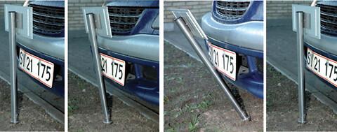 P-skilte/p-stander/parkeringsskilte med folietekst eller logo