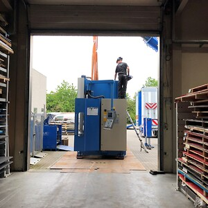 I forrige uge fik vi ny kantbukker hos Klovborg Maskinfabrik A/S.