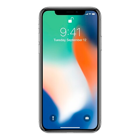 Apple iPhone X 64GB (Sølv) - Grade A - mobiltelefon