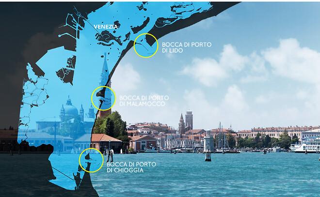 MOSE højvandsporte system til Venedigs lagune