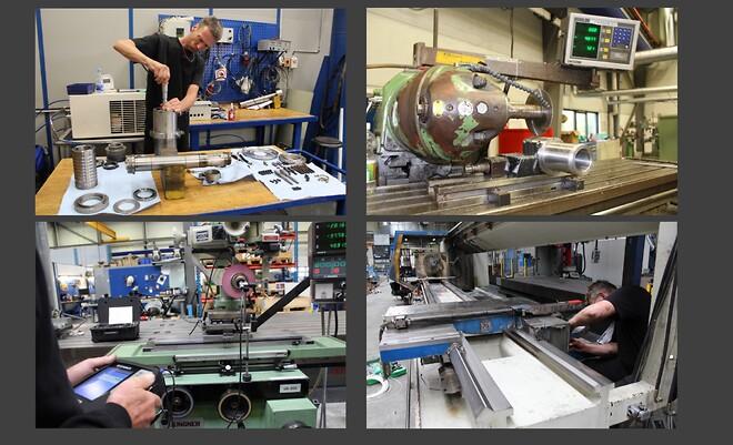 Reparasjon og renovering af maskiner