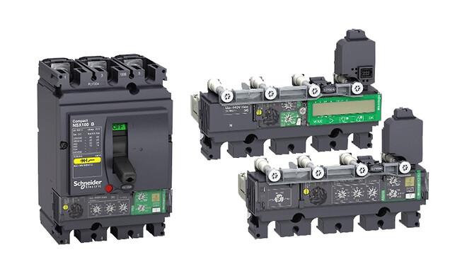 elektroniske vern for Compact NSX effektbrytere med innebygget jordfeilbeskyttelse