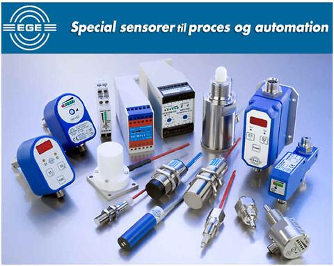 Standard- og specialsensorer fra EGE-Elektronik i mere end 40 år..