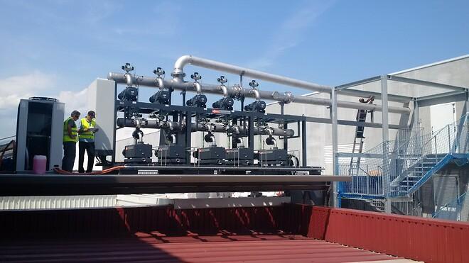 Centralt vakuumsystem med COBRA NX skruevakuumpumper og Panda vakuum booster