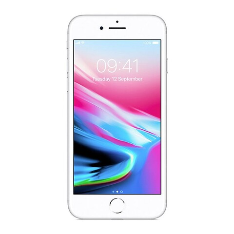 Apple iphone 8 256GB (sølv) - grade b - mobiltelefon