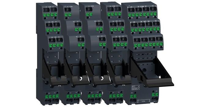 Rælesokler med push-in terminaler fra Schneider Electric