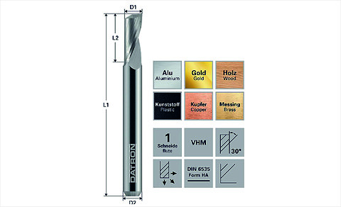 1-skärigt fräsverktyg för snabb spånmatning - single flute\ndatron\nsolectro\nhårdmetall\nfräsa\nplast\nspånmatning\nspånor\nchip\nCNC bearbetning\nfräsa