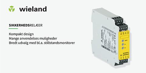Wieland Electric sikkerhedsrelæer