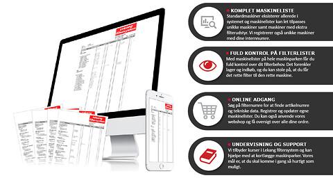 Filterteknik A/S tilbyder online service - Lekang filtersystem, LFS, online bestilling