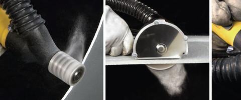 Støvavsug på verktøy fra Nederman