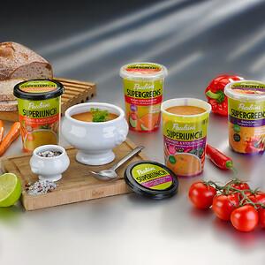 Pauluns_soups_SuperLock_5713_with_IML_oxygen_barrier_(clear_lids)_Orkla_Foods