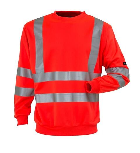 Sweatshirt, hi-vis, kl. 3, 11115 - rød