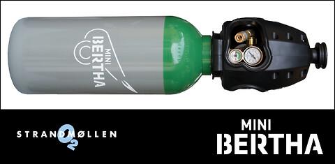 Lille og let gasflaske fra Strandmøllen - Mini Bertha Argon, 8 liter, 300 bar med KVIK TOP®