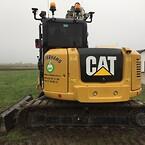 "CAT 308E2 Gravemaskine med Engcon Rotation, monteret Topcon system X-73i med den dejlige store 10"" GX-75 skærm"